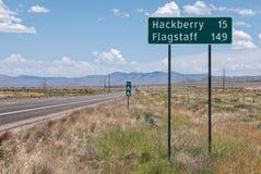 Meile 66 auf altem Route 66 in Arizona lizenzfreie stockfotos