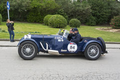 1000 Meilen, Aston Martin Le Mans (1933), MOCERI Giovanni und CA Lizenzfreies Stockbild