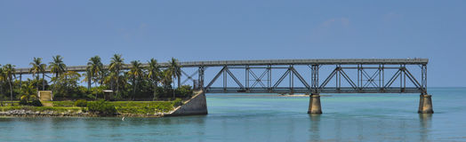 7 Meilen-Brücke, Florida-Schlüssel Stockbild