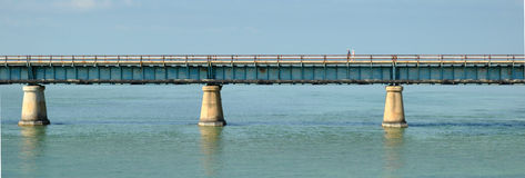 7 Meilen-Brücke von Florida, USA Stockfotografie