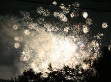 Meilen-hohe Feuerwerke Stockbilder