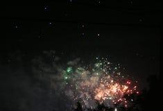 Meilen-hohe Feuerwerke Lizenzfreie Stockfotos