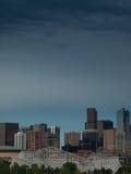Meilen-hohe Stadt von Denver bis zum Nacht Stockbilder