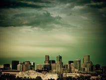 Meilen-hohe Stadt von Denver bis zum Nacht Lizenzfreies Stockbild