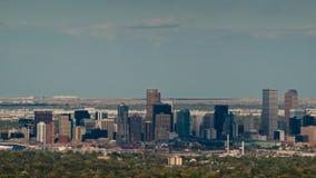 Meilen-hohe Stadt von Denver bis zum Nacht Stockfotos