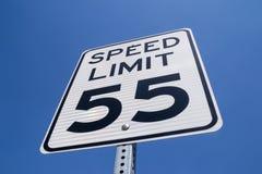 55-Meilen pro Stunden-Zeichen Stockbilder