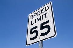 55-Meilen pro Stunden-Zeichen Lizenzfreies Stockfoto