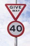 40 Meilen pro Stunden-Zone Lizenzfreies Stockfoto
