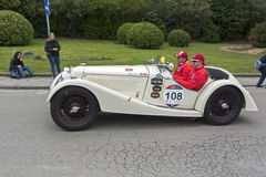 1000 Meilen, Riley Sprite TT (1936), MARINI Bruno und MARINI Andr Lizenzfreie Stockfotos