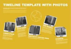Meilenstein-Zeitachse-Schablone Vector Infographic Company Stockfoto