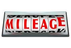 Meilenzahl-Wort Odomoter Vorwahlknopf-Stab spürt Kraftstoff-Gebrauch auf stock abbildung