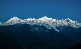 Meili(Meri) Snow Mountains in morning Royalty Free Stock Image