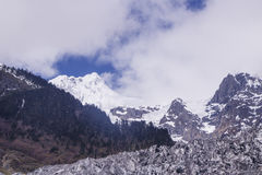 Meili snow Mountain also know as Kawa Karpo located in Yunnan Pr. Ovince, China Royalty Free Stock Photo