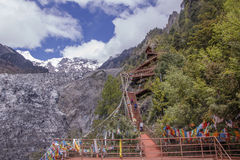 Meili snow Mountain climbing trail in Yunnan Province, China dec Stock Image