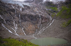 Meili Snow Mountain Rain collapse glacial lake scenery Stock Images