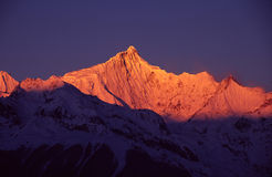 Meili Snow Mountains at sunrise Royalty Free Stock Image