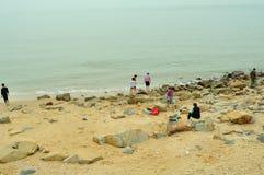 Meili Wang Sandy beach Stock Photo