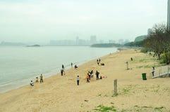 Meili Wang Sandy beach Stock Photos