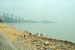 Meili Wang Sandy beach Royalty Free Stock Image