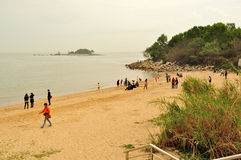 Meili Wang Sandy beach Stock Photography
