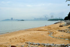 Meili Wang Sandy beach Stock Images