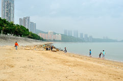 Meili Wang Sandy beach Royalty Free Stock Images