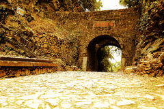 Meiling ,the ancient past road and gate Stock Images