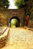 Meiling Ancient Road. Also known as Mei Guan ancient road is located in the urban area of Nanxiong, Guangdong -- between Dayu County of Jiangxi province stock photography