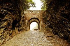 Meiling Ancient Road. Also known as Mei Guan ancient road is located in the urban area of Nanxiong, Guangdong -- between Dayu County of Jiangxi province stock images