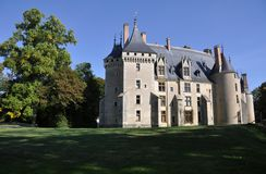 Meillant Chateau. Exterior of Meillant Chateau in countryside, Cher, Loire, Valley, France Royalty Free Stock Photos