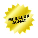 Meilleur Achat Sign. Yellow Meilleur Achat Sign - Web Button - Internet Design Royalty Free Stock Images