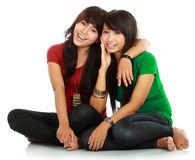 Meilleur ami de deux adolescentes Photos stock