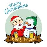Meilleur ami de Joyeux Noël Photo libre de droits