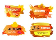 Meilleur Autumn Discount Offer Vector Illustration Photo libre de droits
