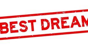 Meilleur bourdonnement rêveur rouge grunge de tampon en caoutchouc de place de mot du fond blanc illustration libre de droits