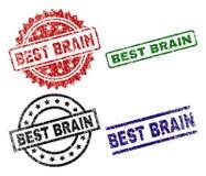 MEILLEUR BRAIN Seal Stamps texturisé grunge Illustration de Vecteur