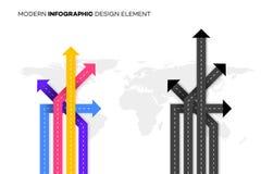 Meilleur choix conceptuel Illustration de vecteur avec des carrefours au-dessus de Worldmap Calibre pour votre Infographic modern Photo libre de droits
