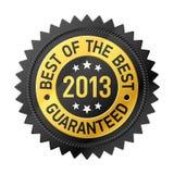 Meilleur de l'étiquette du meilleur 2013 Photos libres de droits