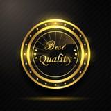 Meilleur insigne d'or de qualité Images libres de droits