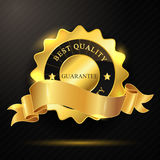 Meilleur insigne d'or de qualité Photographie stock libre de droits