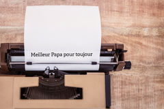 Meilleur papa pour toujours written on paper Royalty Free Stock Images