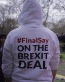 Meilleur pour les militants sociaux de la Grande-Bretagne protestant contre Brexit photos stock