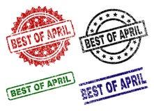 MEILLEUR texturisé grunge d'APRIL Stamp Seals illustration de vecteur