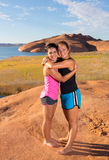 Meilleurs amis au lac Powell Photographie stock