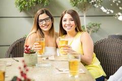 Meilleurs amis buvant de la bière ensemble Image libre de droits