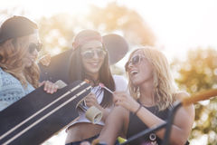 Meilleurs amis dans l'heure d'été Photos libres de droits