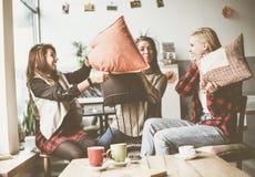 Meilleurs amis dans un café Images stock