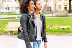 Meilleurs amis de l'appartenance ethnique africaine du nord Photo stock