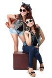 Meilleurs amis partant en vacances Photo libre de droits