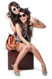 Meilleurs amis partant en vacances Image stock